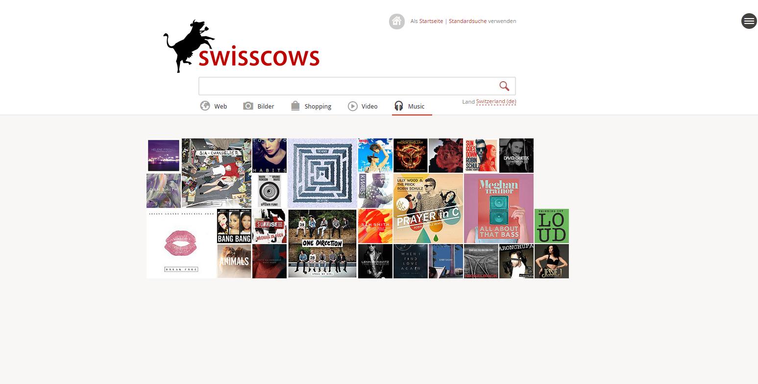 Swisscows Screenshot Musik