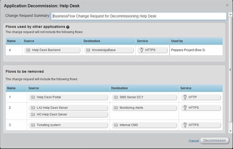 AlgoSec ASMS Applikationsflows bei De mission kl