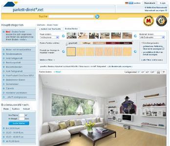 Virtuelle parkettauswahl vereinfacht parkett for Boden direkt shop