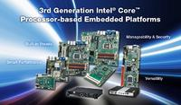 Advantech Rolling Out 3rd Generation Intel® Core(TM) Processor-based Embedded Platforms