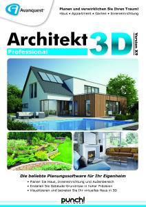 avanquest erneuert architekt 3d mit version x9 avanquest deutschland gmbh pressemitteilung. Black Bedroom Furniture Sets. Home Design Ideas