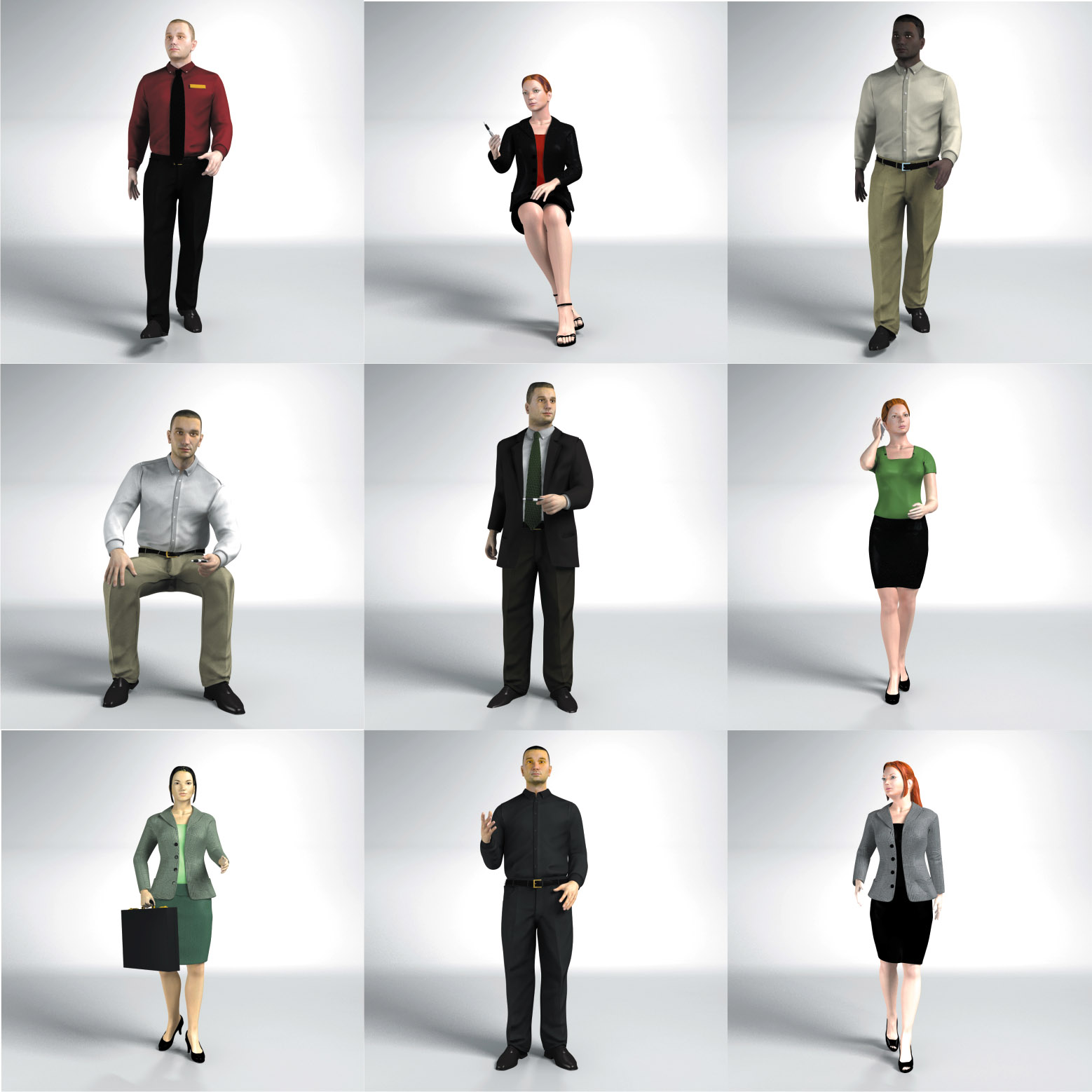 Animated People For Cinema 4d Dosch Design