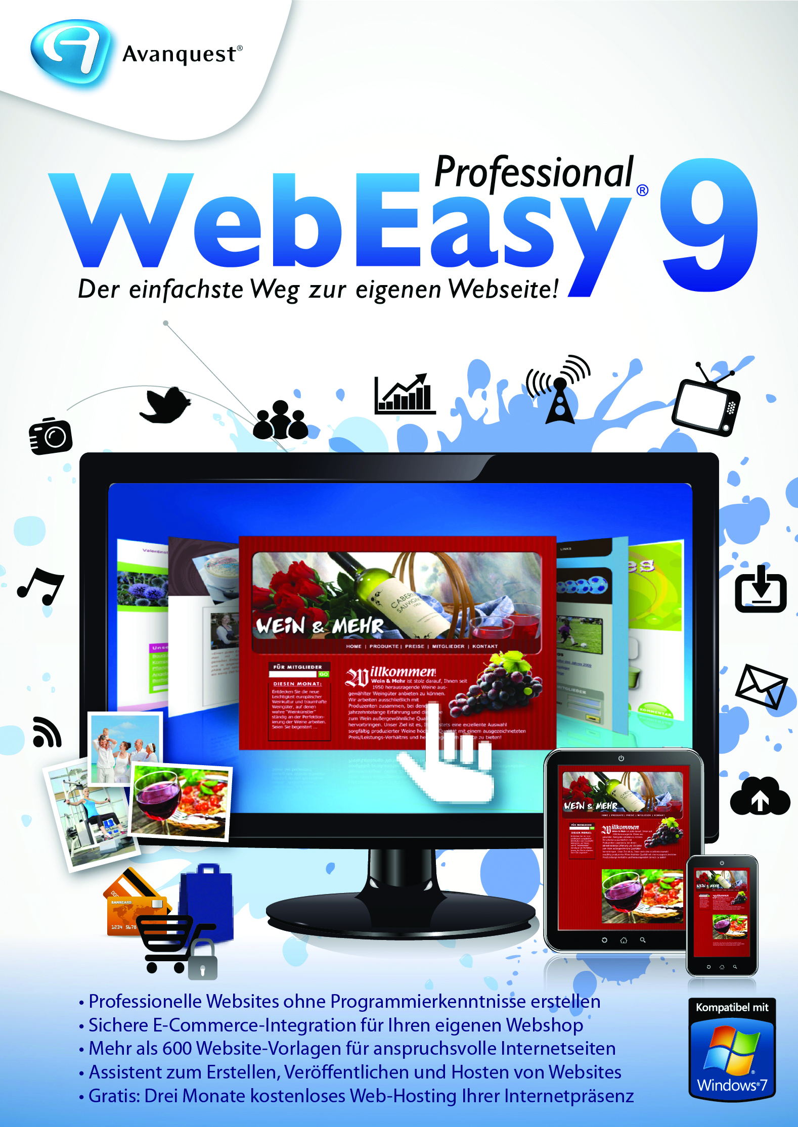 Einfach schicke Websites mit WebEasy 9 Professional von Avanquest ...