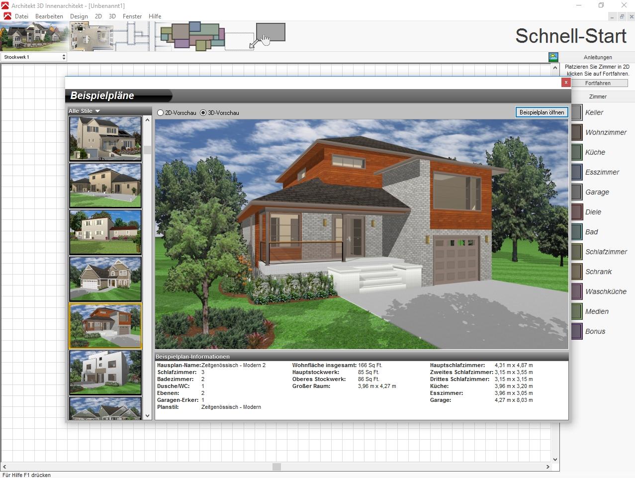 Garten und Innenräume planen – dank Architekt 21D X21, Avanquest ...