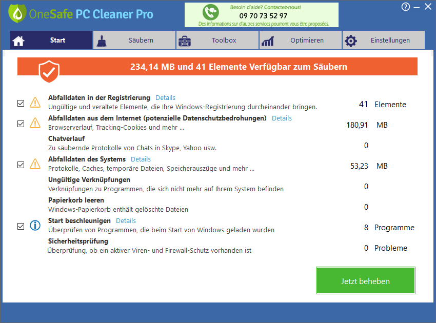 one safe pc cleaner erfahrungen