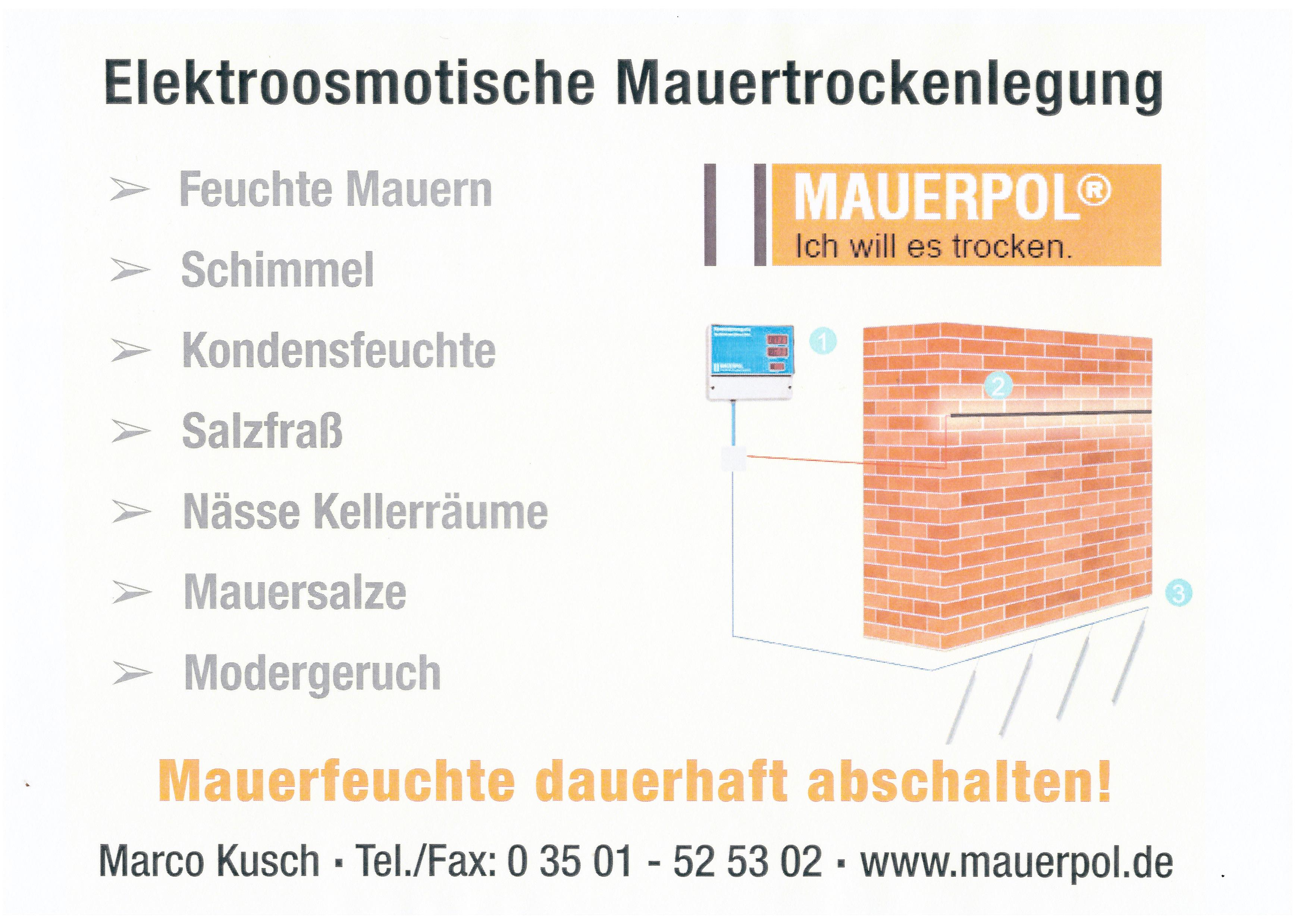 Berühmt MAUERPOL® – das Qualitätssystem für trockene Wände, MAUERPOL QL94