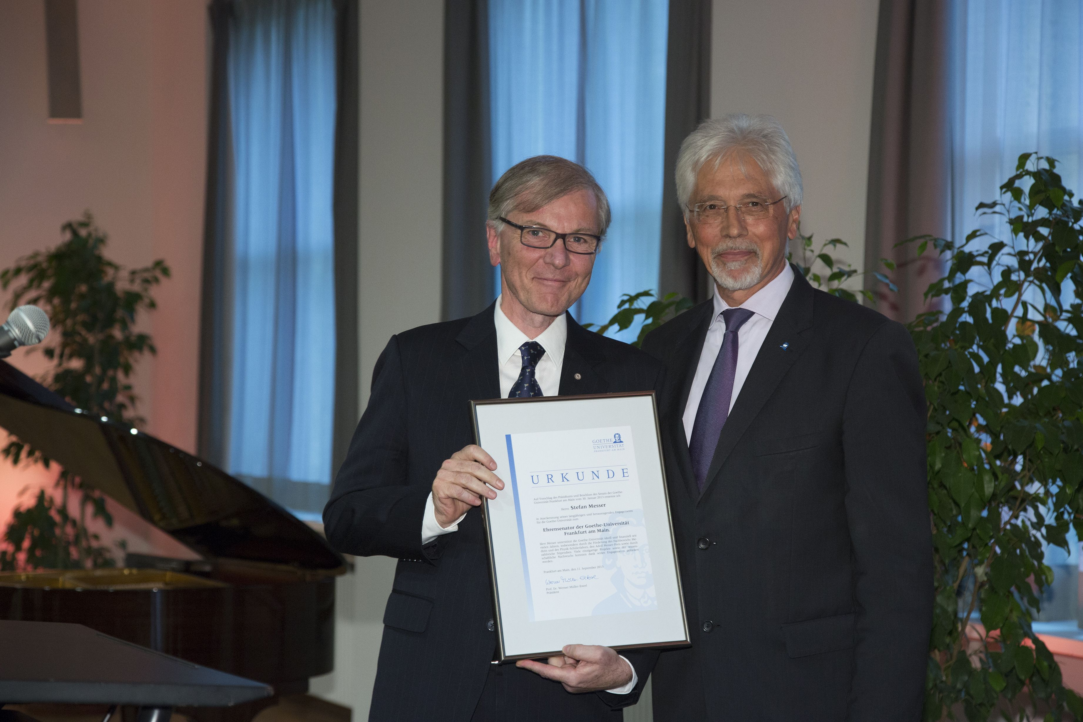 Stefan Messer Appointed Honorary Senator, Messer Group