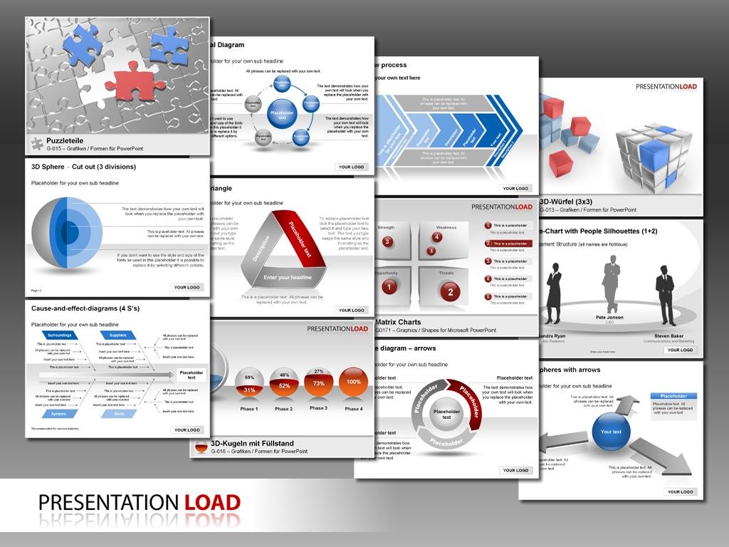 Über 150 neue powerpoint-designs bei presentationload, Powerpoint templates