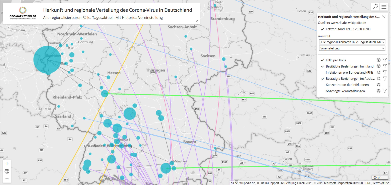 Landkarte Corona Deutschland