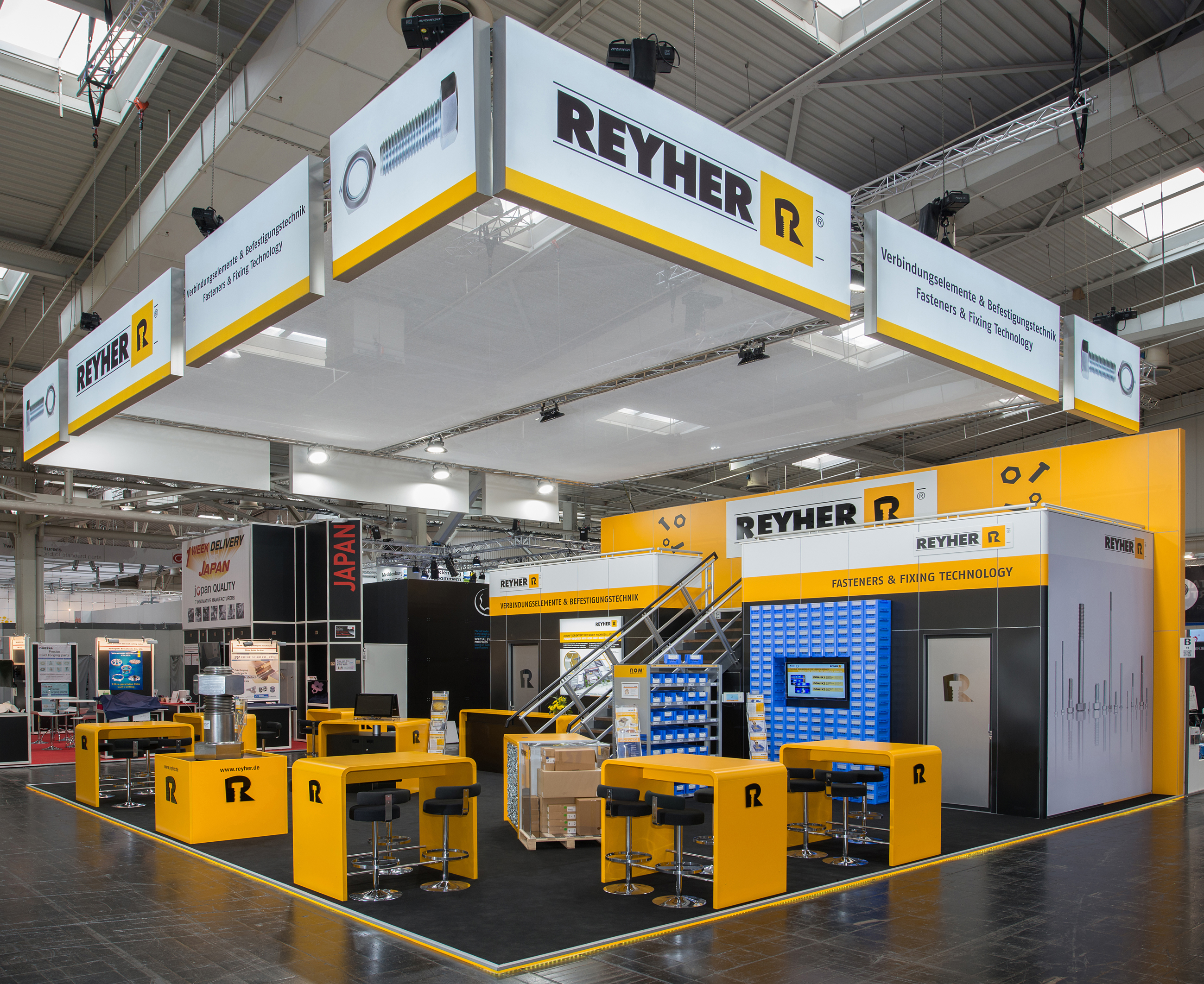 hannover messe 2018 effiziente c teile versorgung am reyher stand f reyher nchfg gmbh co. Black Bedroom Furniture Sets. Home Design Ideas
