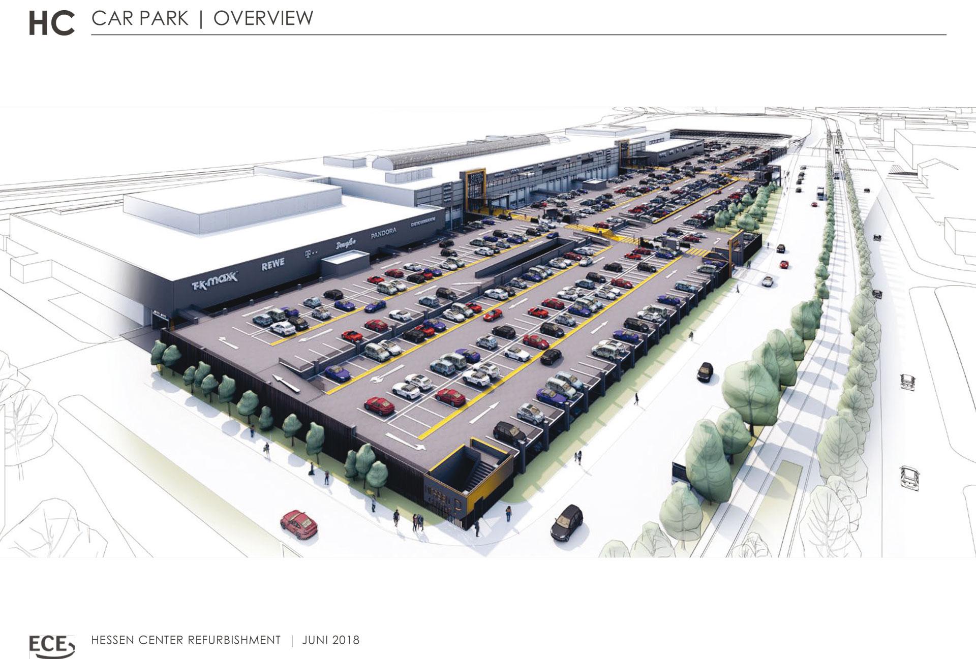 max b gl errichtet f r das hessen center ein neues parkdeck w hrend des laufenden betriebs. Black Bedroom Furniture Sets. Home Design Ideas