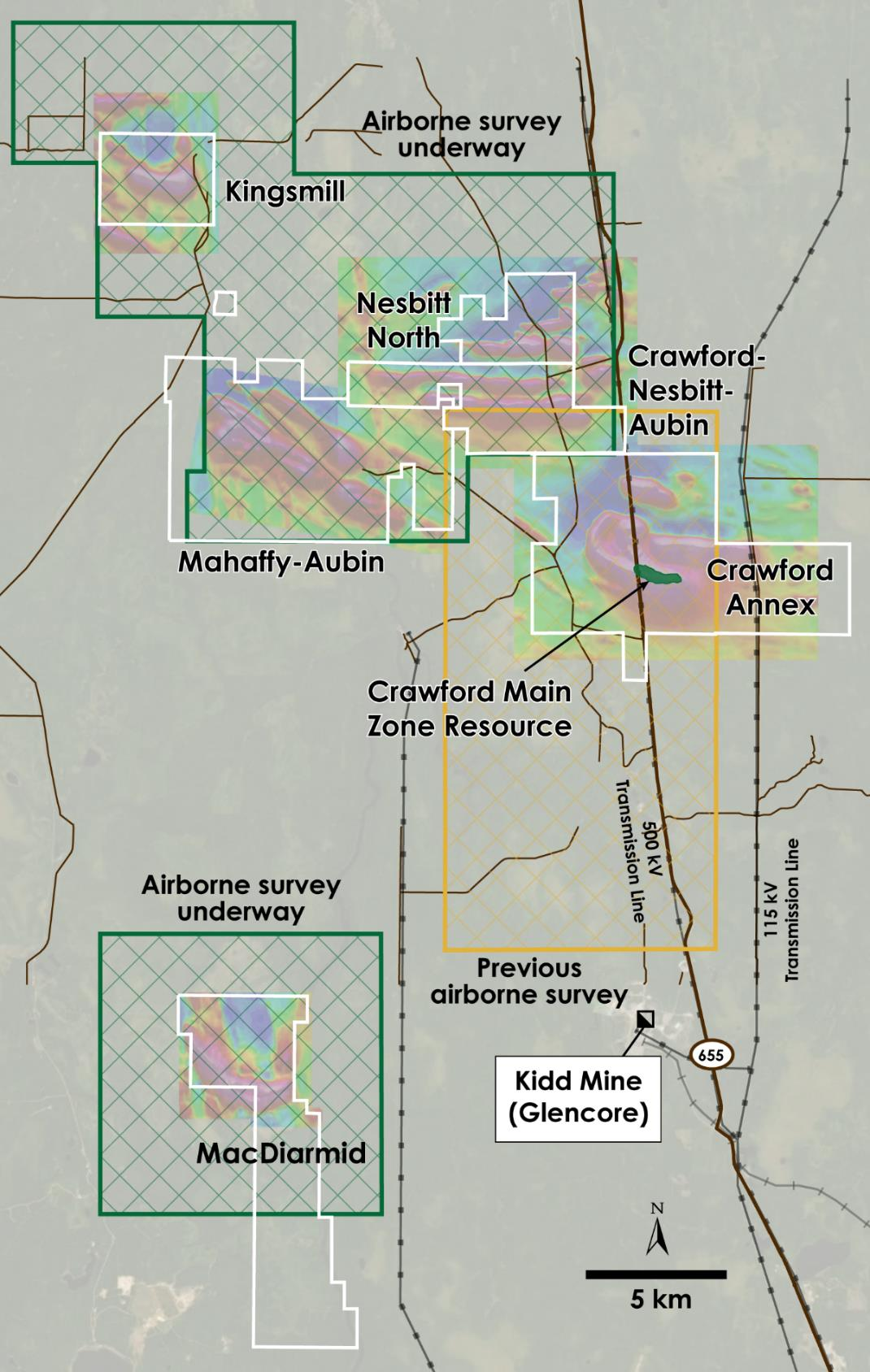 Canada Nickel Announces Airborne Geophysical Survey Underway on Recently Acquired Option Properties