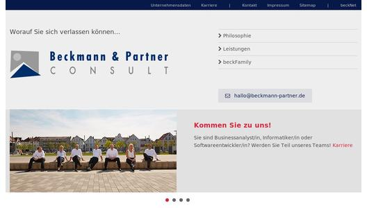 Homepage Beckmann & Partner CONSULT
