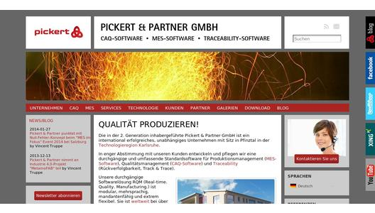 Homepage Pickert & Partner GmbH