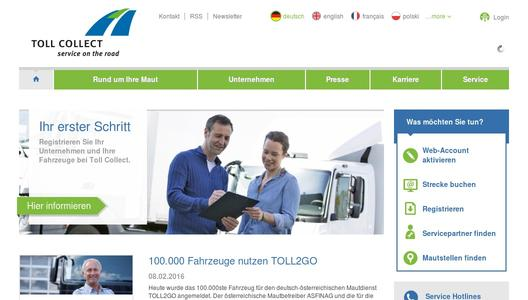 Toll Collect Homepage