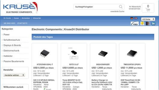 e-commerce electronic components distribution