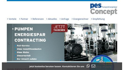 Homepage der pesContracting GmbH