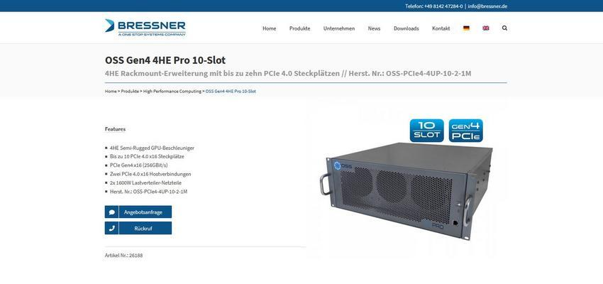Gen4 4U Pro 10-Slot - 4U rackmount expansion with up to ten PCIe 4.0 slots // ma