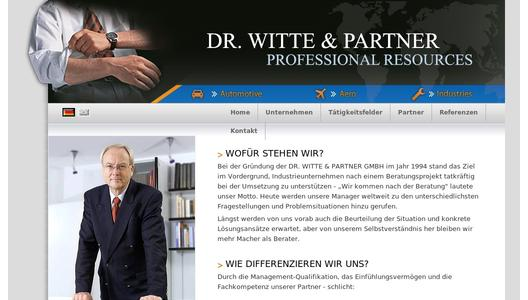 Website der Dr. Witte & Partner GmbH