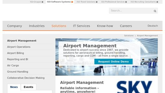 Airport Management from ISO Software Systeme