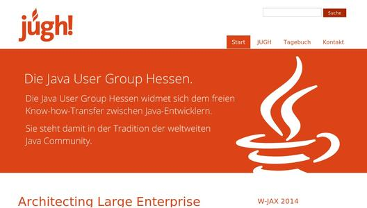 Homepage der Java User Group Hessen