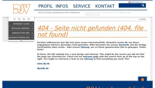 Text der Resolution auf der DJV-Homepage