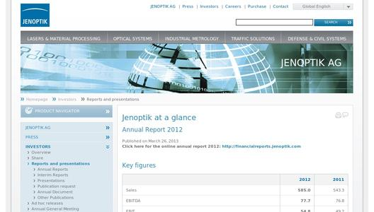 "Weitere Infos zu ""Jenoptik successfully closes 2013 fiscal year"""