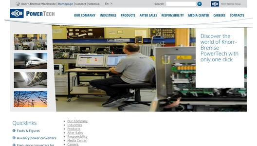 Homepage Knorr-Bremse PowerTech