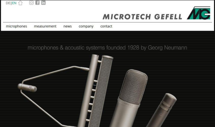 Microtech Gefell GmbH - all microphones