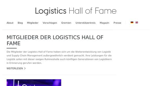 "Weitere Infos zu ""Logistics Hall of Fame: proposal phase begins"""