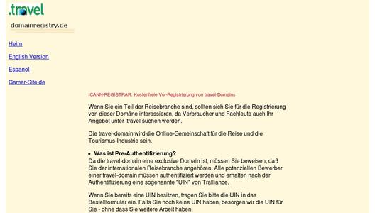 Mehr Informationen über Travel-Domains