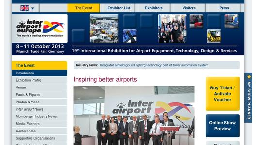 More information on inter airport Europe 2013
