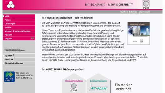 Website VZM GmbH