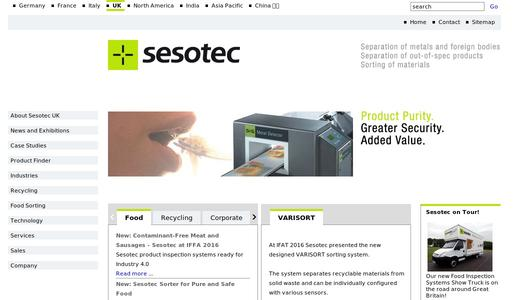 "Weitere Infos zu ""Sesotec Makes Packaged Products Pure"""