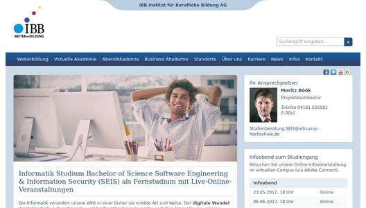 Informatikstudiengang Sotware Engineering & Information Security als Fernstudium