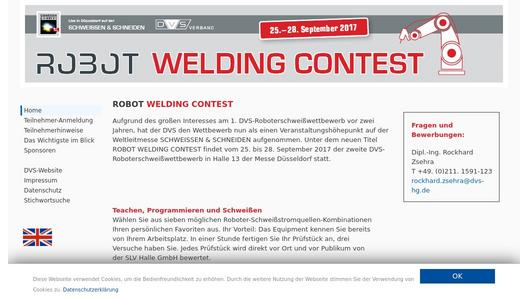 "Weitere Infos zu ""Live in front of an international public: ROBOT WELDING CONTEST at SCHWEISSEN & SCHNEIDEN 2017"""