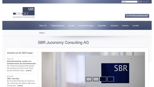 Website SBR Juconomy Consulting AG
