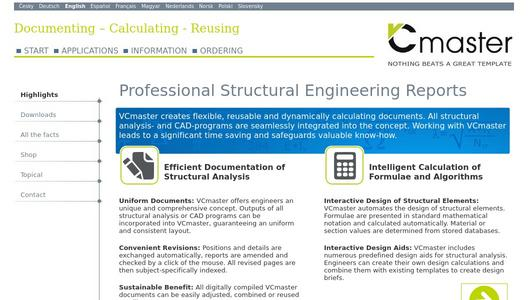 VCmaster - Professional Structural Design Calculations