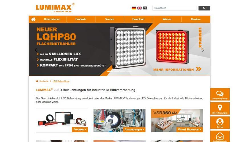 LUMIMAX® Power Lights for Machine Vision - Website