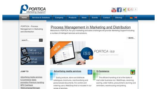 PORTICA GmbH Marketing Support