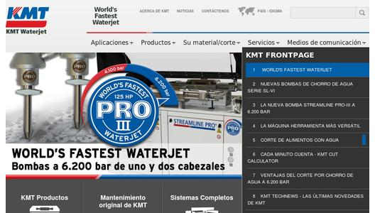 Sitio Web de KMT Waterjet Systems
