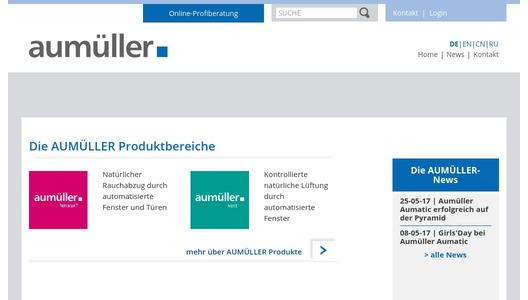 Homepage Aumüller Aumatic GmbH