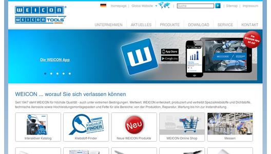 Die WEICON-Website