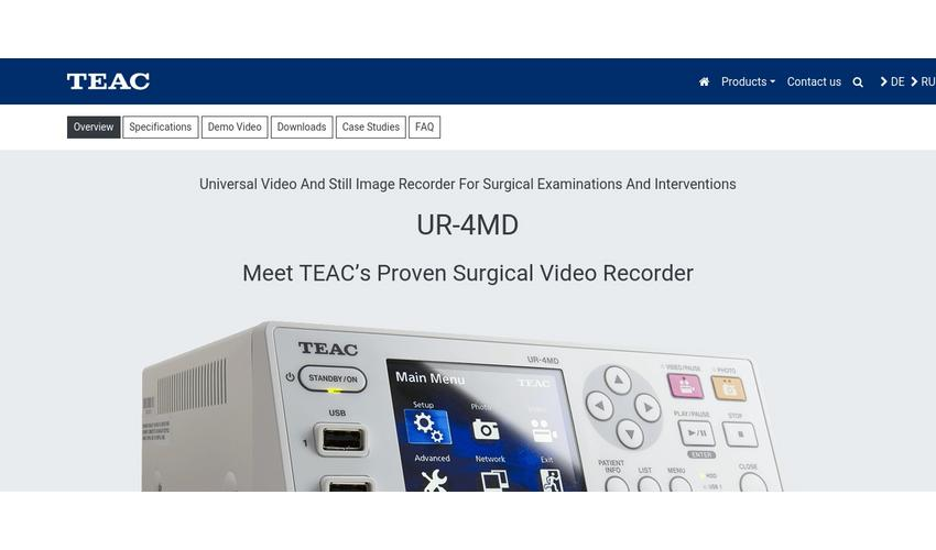 TEAC UR-4MD Medical grade Recording solution / DICOM Gatgeway