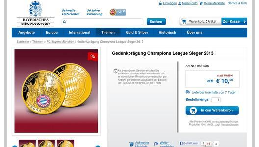 Offizielle Fcb Medaille Zum Champions League Sieg Jetzt Für Nur 10