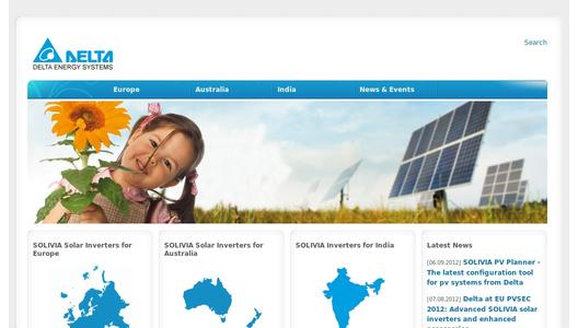 Delta Energy Systems website
