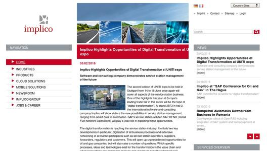"Weitere Infos zu ""Implico Highlights Opportunities of Digital Transformation at UNITI expo"""