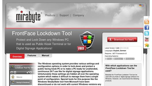 FrontFace Lockdown Tool – a free utility that helps configuring and