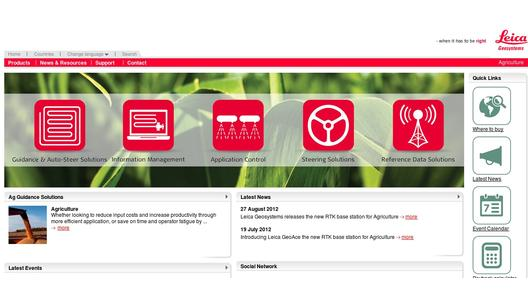 Leica Geosystems Agriculture Website