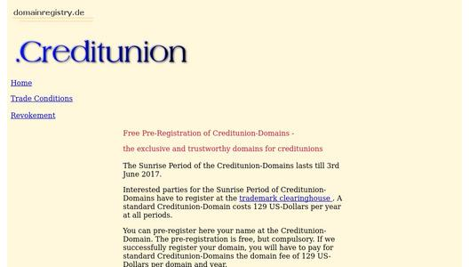 Creditunion-Domain - the exclusive domain for creditunions